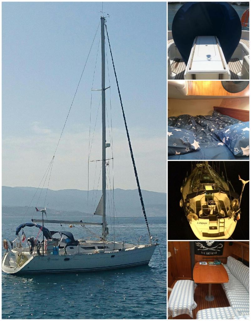 logement insolite corse, logement atypique, voilier au port, porto vecchio en corse, voilier au mouillage, plage de st cyprien Corse,